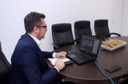 Minister Mustafa had a virtual meeting with the EU's representatives, the German Embassy and GIZ.