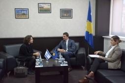 Ministri Krasniqi takoi ambasadoren e Izraelit, Alona Fisher-Kamm